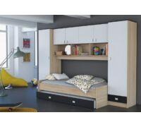Heidi ifjúsági szoba, sonoma-fehér-fekete