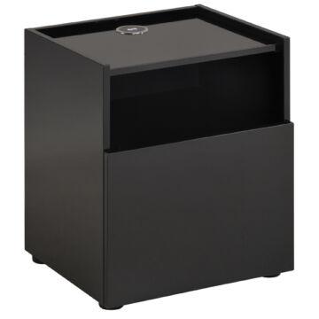 Hello szekrény vezeték nélküli töltővel, fekete