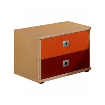 Sunny juhar/narancs éjjeli szekrény